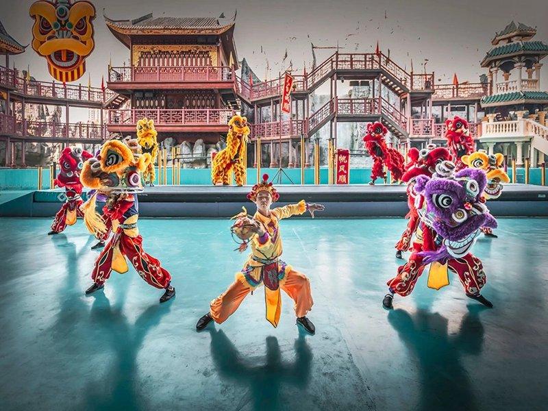 深圳旅游景区舞狮表演